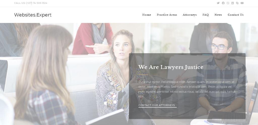 Websites Expert Demo2 landing page